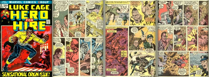 The Origin of Luke Cage from Heroes for Hire #1, June 1972: Written by Archie Goodwin and Illustrated by John Romita, Sr.
