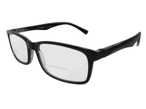 Oslo Wayfarer Bifocal Reading Glasses in Black
