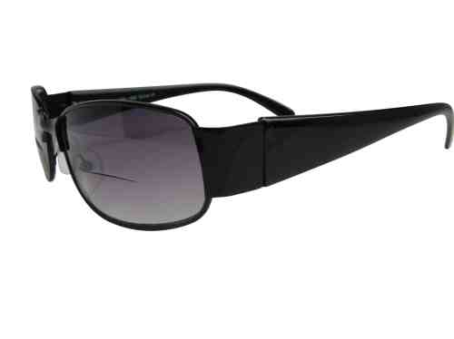 Roma Wrap Around Bifocal Sunglasses in Black