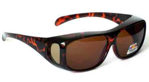 Anti Glare Polarised Over Top Sun Shields in Tortoiseshell