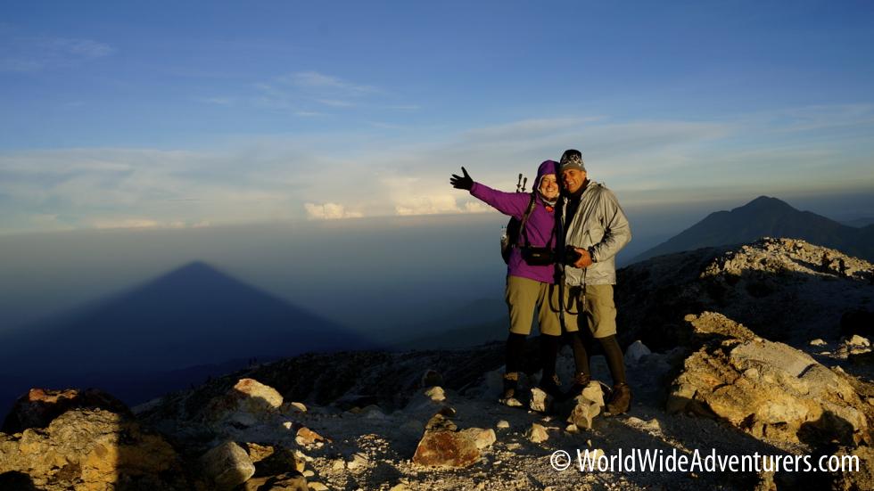 The summit Tajumulco Volcano Hiking Guatemala