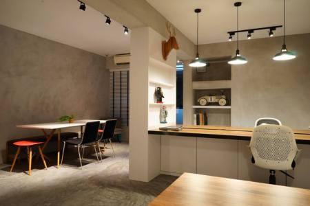 minimal industrial interior design show simplicity