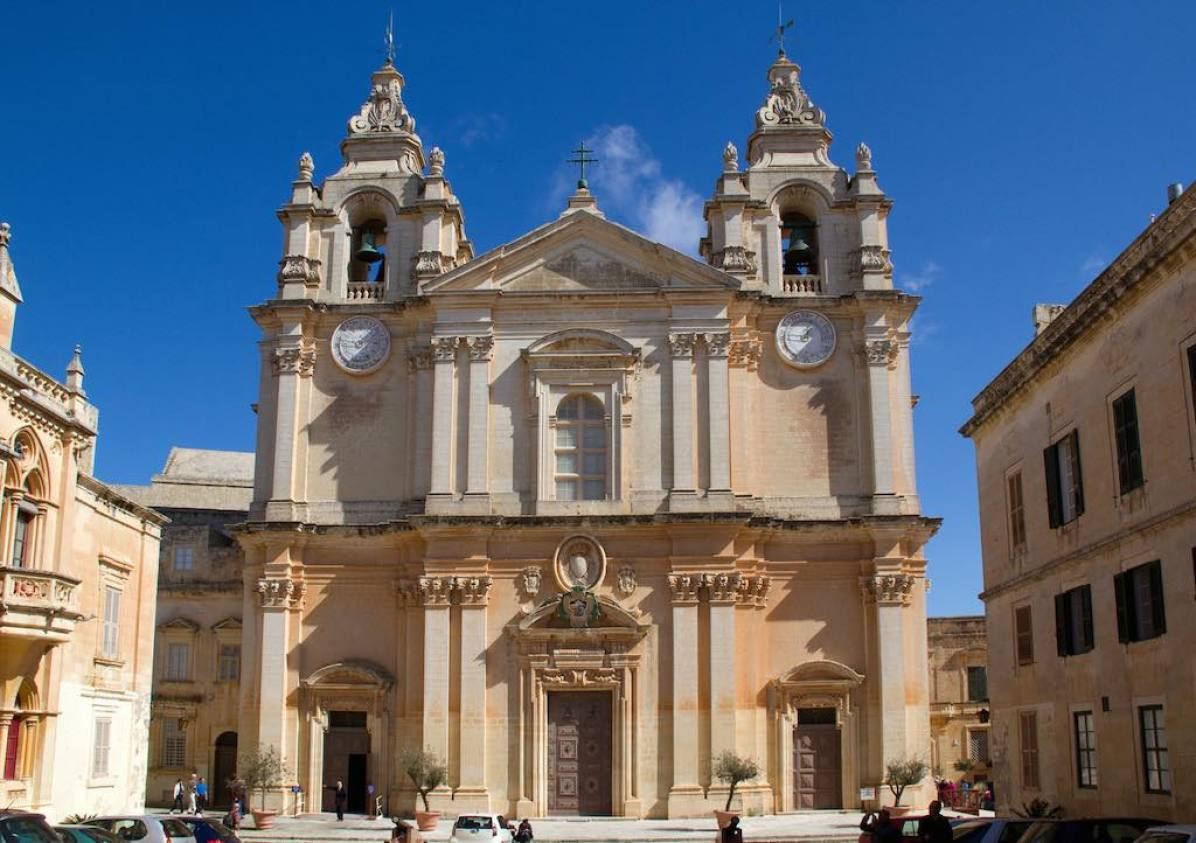 St Paul's Cathedral, Mdina, Malta - by Tony Hisgett:Flickr
