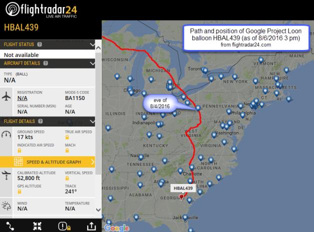 HBAL439 flight path