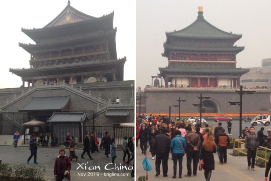 In the center of Xi'an, you'll find the ancient drum and bell towers. Behind them is a historic district popular with tourists, so we wandered there for a few hours, buying Christmas gifts and reliving memories of our pleasant years in the city.