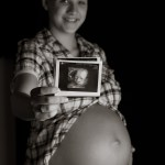 Ultraschallbild und Babybauch