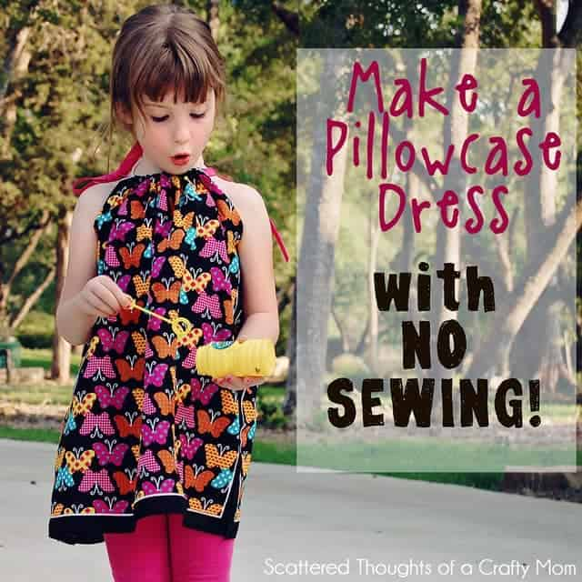 How To Make A Throw Pillow Without Sewing : How to make a Pillowcase Dress without Sewing - Scattered Thoughts of a Crafty Mom