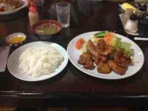 豚の唐揚げ定食