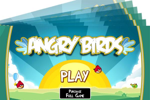angry birds gedrehter screenshot