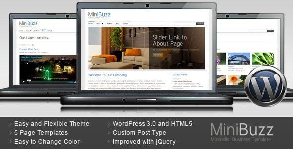MiniBuzz-MinimalistWordPressTheme