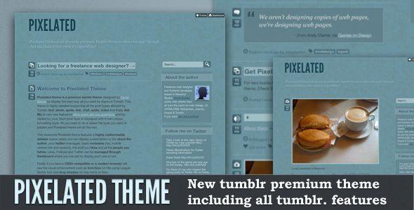 Pixelated theme tumblr