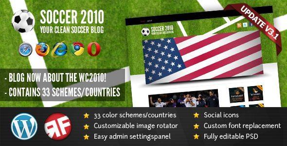 SOCCER 2010 WordPress Theme