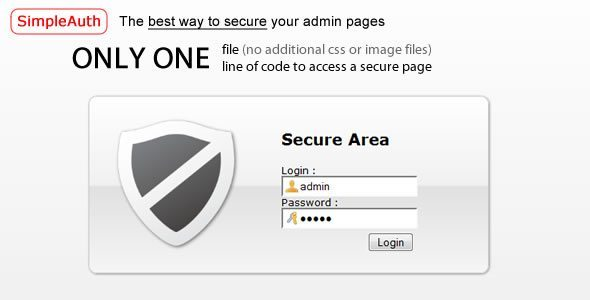 SimpleAuth : Very Simple Secure Login System