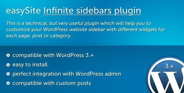 easySite Infinite sidebars plugin