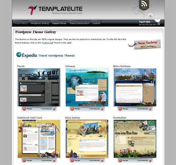 Templatelite: 100% original designs WordPress Themes