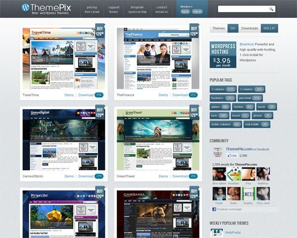 Theme PIX Free WordPress Themes