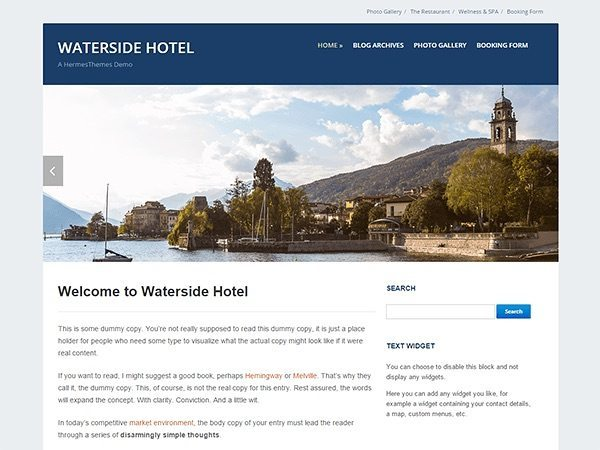 WordPress Theme for Hotel - Waterside