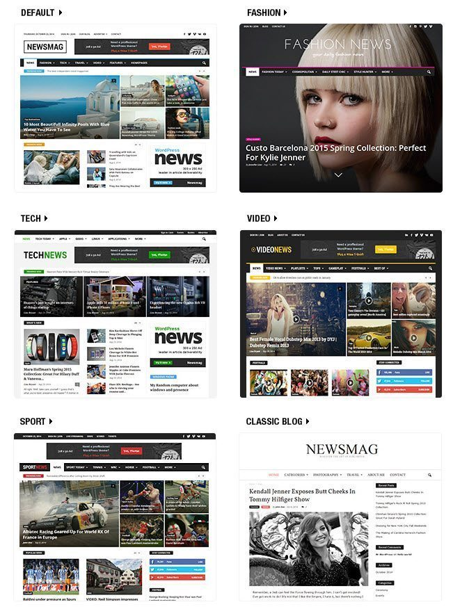 best selling wordpress theme review - demos of Newsmag