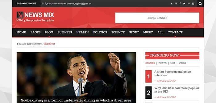 News Mix Lite - wordpress themes 2016