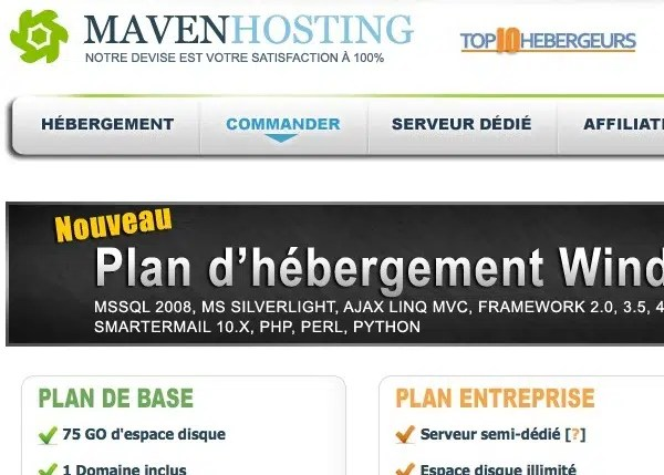 WordPress Channel est hébergé par Maven Hosting