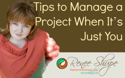 Tips to Manage a Project When It's Just You