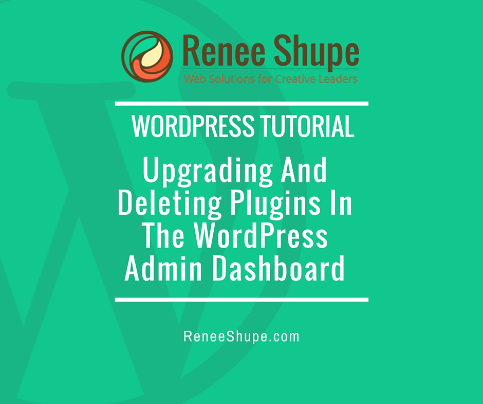 Upgrading And Deleting Plugins In The WordPress Admin Dashboard