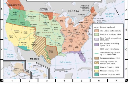 atlas map us territorial expansion, 1783 1898