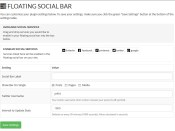 Floating Social Bar Setup