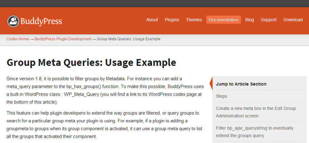 BuddyPress Codex Completely Revamped with New Design, Tutorials and Guides