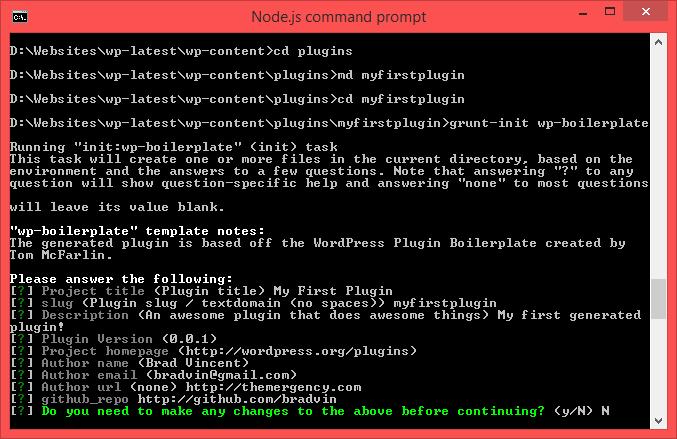 A Generator For the WordPress Plugin Boilerplate