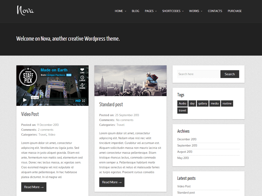 Nova Lite wordpress Theme