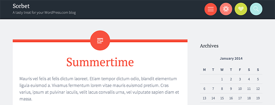 Sorbet: A Free WordPress Theme From Automattic