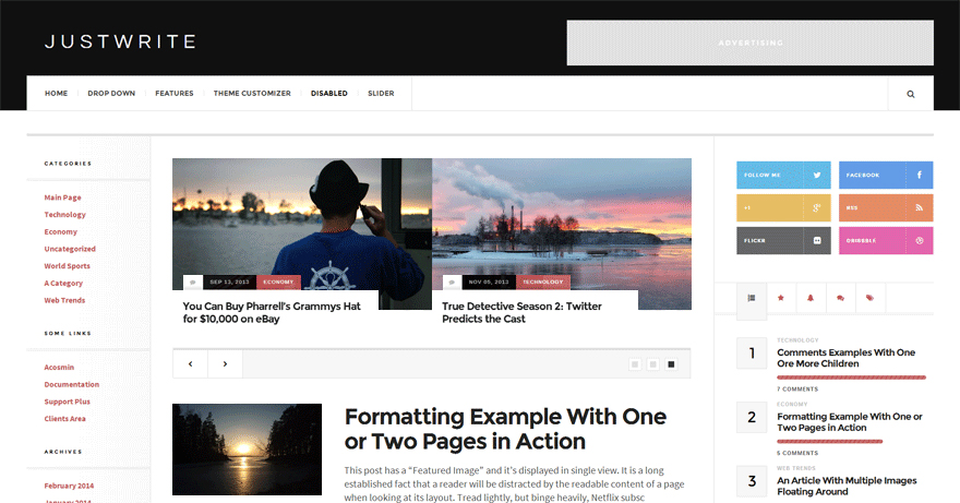 JustWrite: A Free WordPress Magazine Theme With a Bold Design