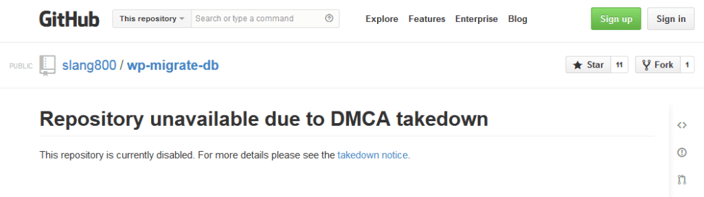DMCA Takedown Notice Against A Fo