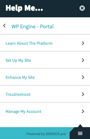 WP Engine User Portal