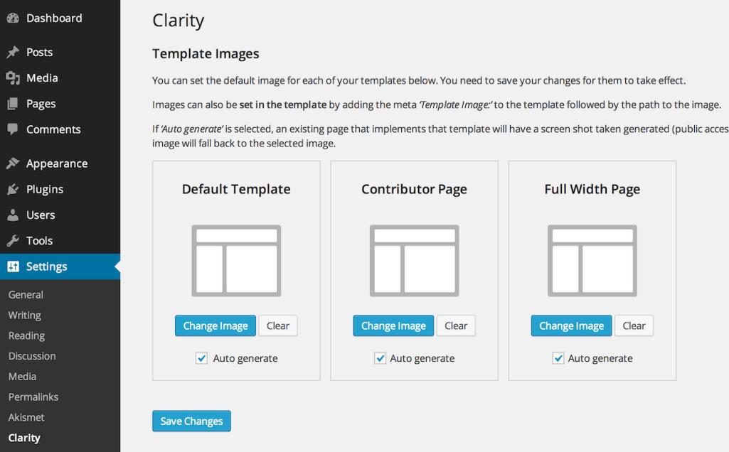 clarity-settings