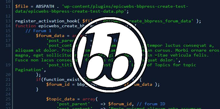 3 Quick Ways to Create bbPress Test Data