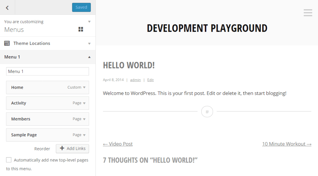 Menu Customizer Now in Development for WordPress 4.2
