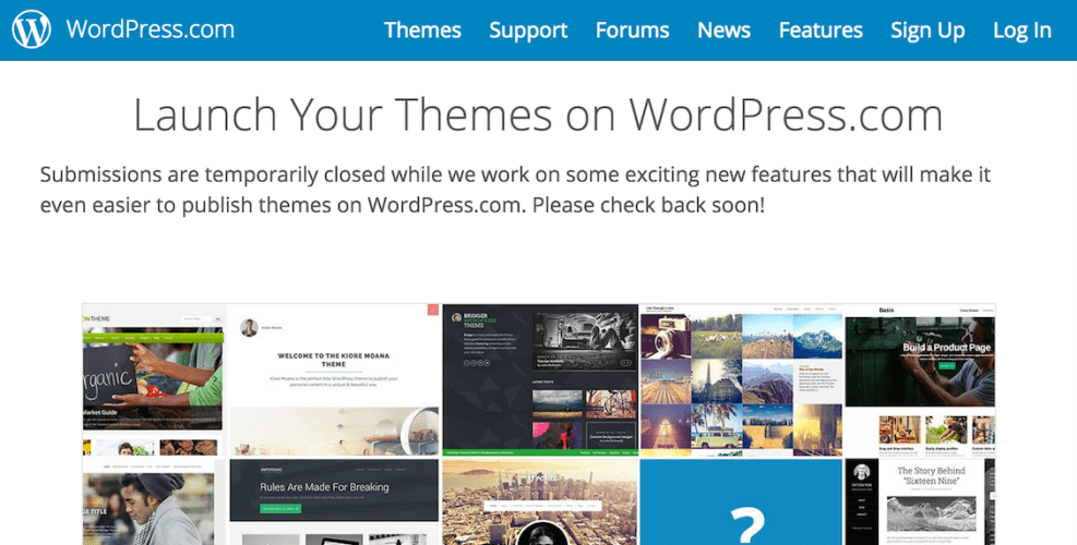 WordPress.com Suspends Theme Submissions from New Sellers