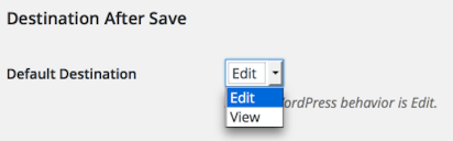 Destination After Save User Profile Settings