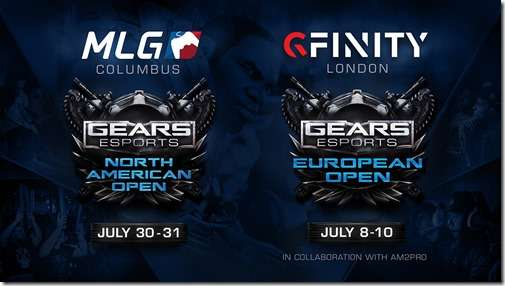 Gears eSports North American Open and European Open Graphic