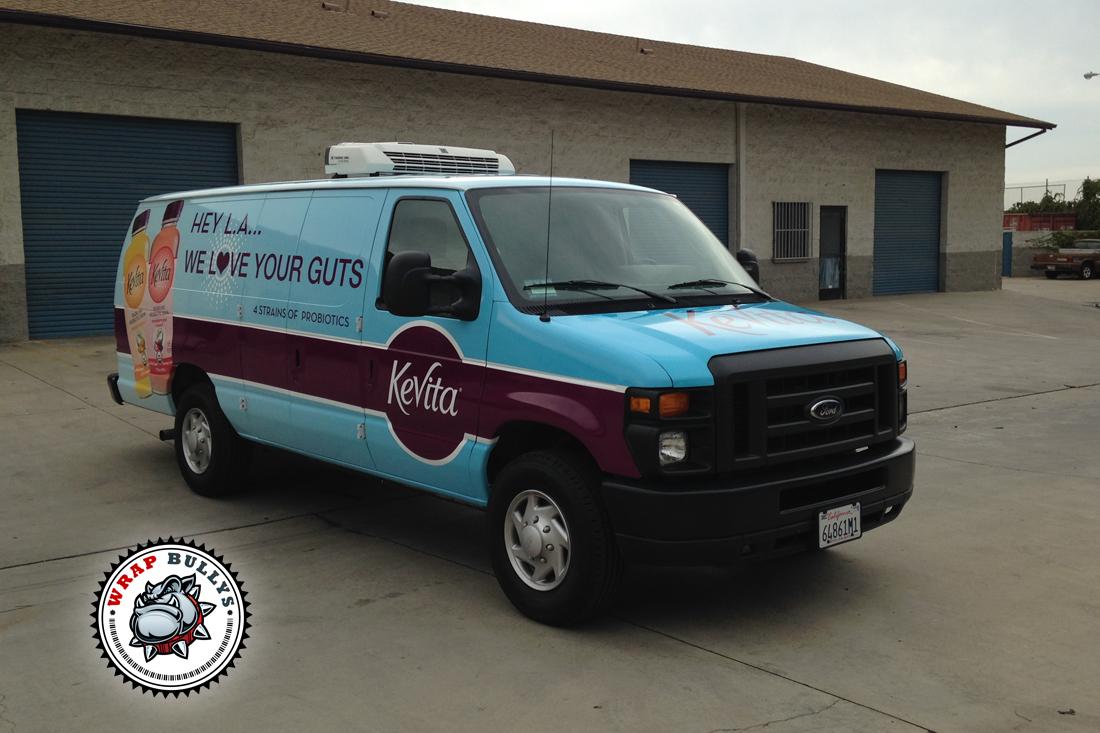 Kevita Commercial Van Wrap Wrap Bullys