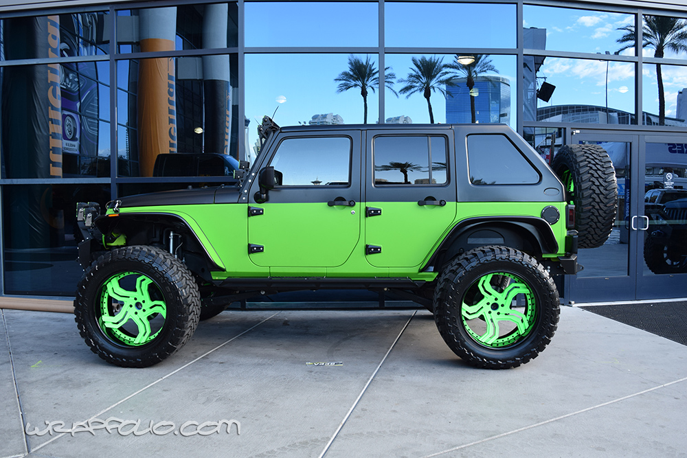 Lime Green Jeep Wrap Wrapfolio