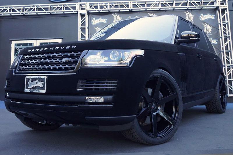 Khloe Kardashian S Velvet Wrapped Range Rover Wrapfolio