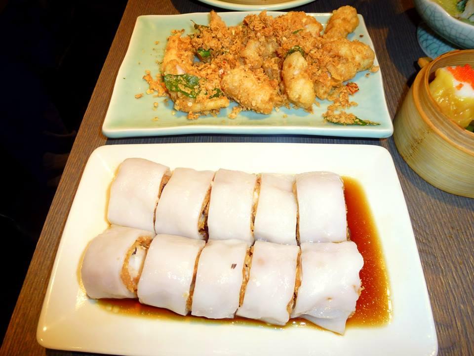 ... oatmeal and curry leaf Vibrant prawn, cuttlefish and zucchini dumpling