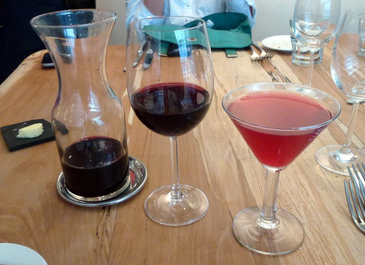 Bordeaux and blueberry martini at arbutus