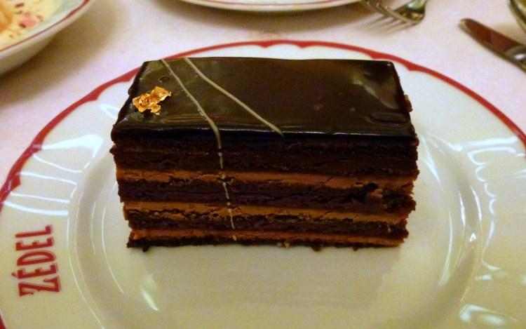 Opera cake at Brasserie Zedel