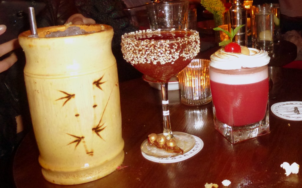 Barrel-Aged Zombie, 12 Mile High, Pink Chihuahua cocktails at bar nightjar