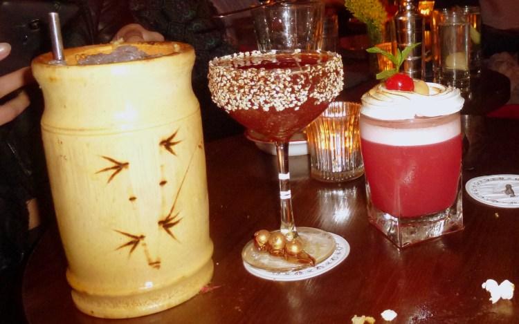 Barrel-Aged Zombie, 12 Mile High, Pink Chihuahua cocktails at bar nightjar