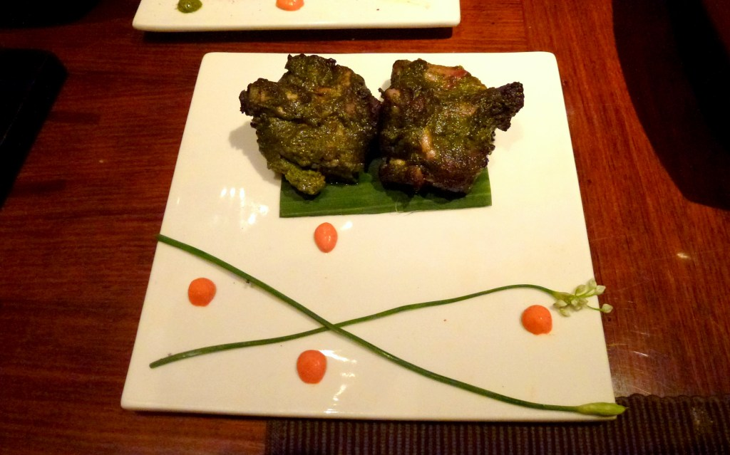 Tandoori chicken chops at amaya